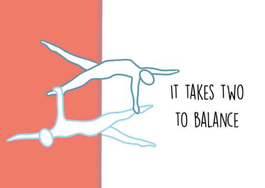 It takes two to balance - Postcard - Ansichtkaart A018