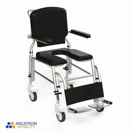 Frido Prime Assistant Propelled Shower Commode Wheelchair | SAS100 | Fully Waterproof & Rustproof