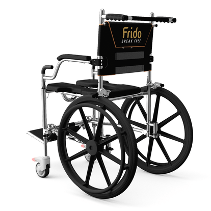 Self Propelled Frido GO Portable Shower & Commode Wheelchair | Fold & Go in 60sec