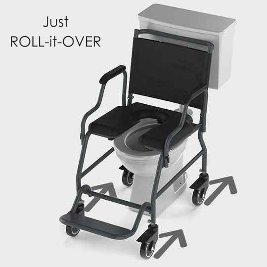 Heavy Duty Rollover Commode Wheelchair | Frido 2000 | 150 Kg Load Capacity