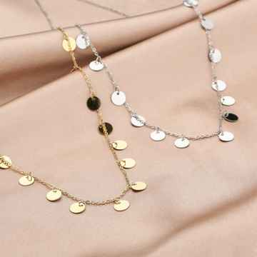 Ketting Coins - Zilver