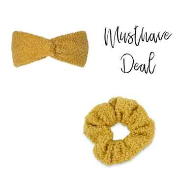 Musthave Deal - Haarband & scrunchie Oker