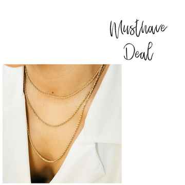 Musthave Deal - Kettingset Twisted Goud