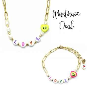 Musthave Deal - Colourful LOVE Ketting & Armband