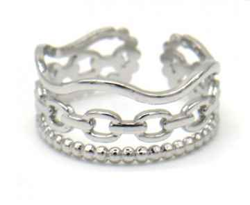 Ring Wave - Zilver