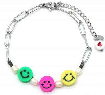 Armband Colourful Smile - Zilver