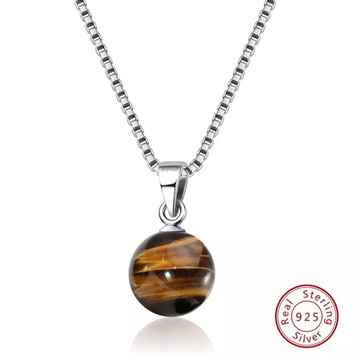 Spirituele Ketting Ball Tiger Eye