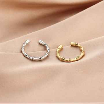 Ring Bamboo Patroon - Zilver