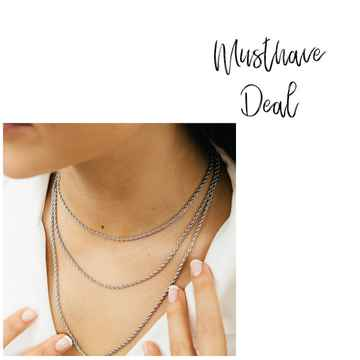 Musthave Deal - Kettingset Twisted Zilver