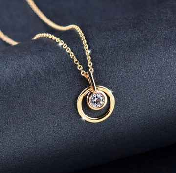 Ketting Circle of Love - Goud