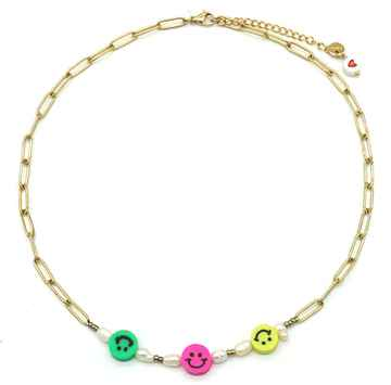 Ketting Colourful Smile - Goud