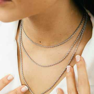 Ketting Twisted Zilver (3 maten)