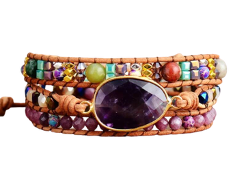 Spirituele Wikkelarmband -  Protection &  Purifying