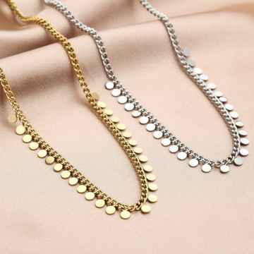 Ketting Chain Coins  - Zilver