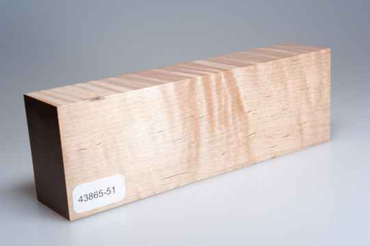 Curly Maple 158 x 34 x 51 mm, 43865-51