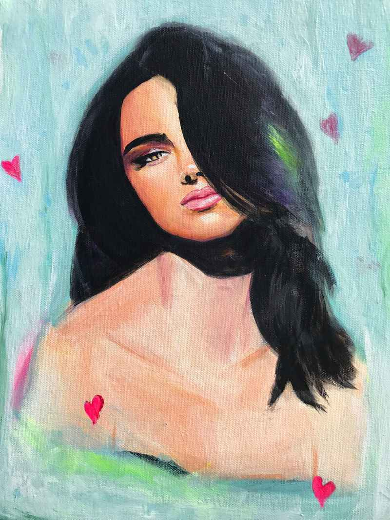 Kendall in Love Original Painting