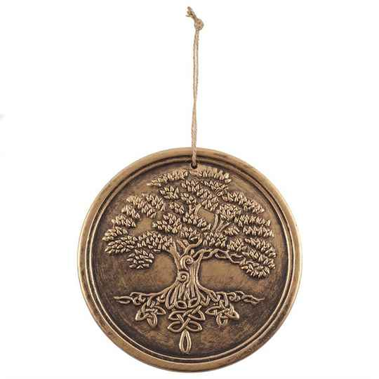 Bronzen terracotta tree of life