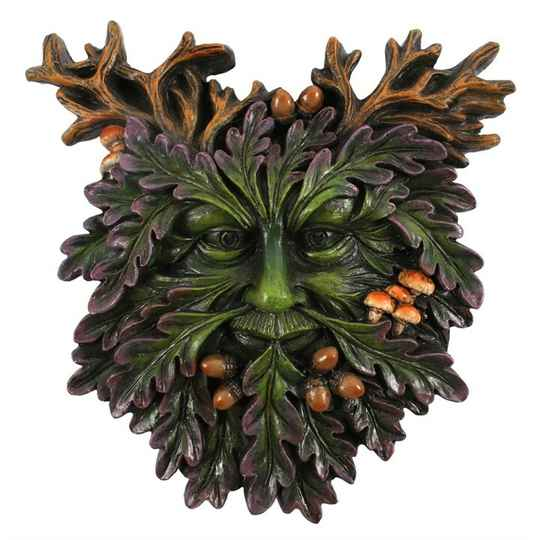 Green Man Small Face Plaque