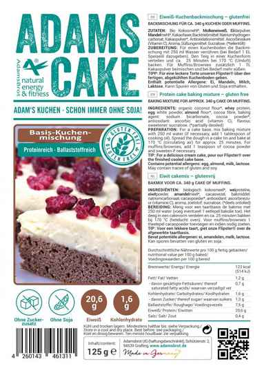 Adams Brot Cake Mix - 125 gram