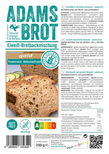 Adams Brot Gold - 250 gram