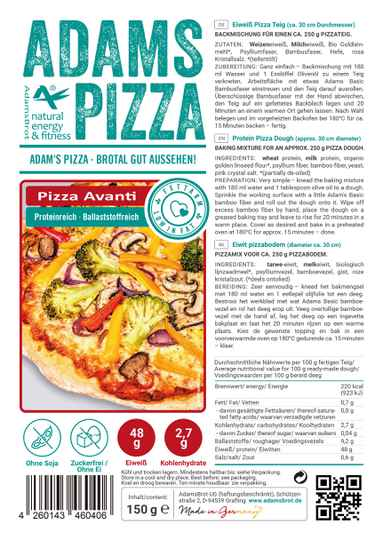 Adams Brot Pizza Mix Avanti - 150 gram