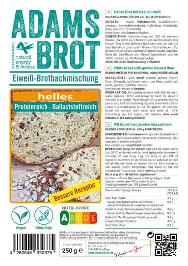 Adams Brot Helles Wit Brood - 250 gram