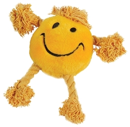 HAPPY PET HAPPY FACES PLUCHE SMILEY GEEL 29X26X8 CM
