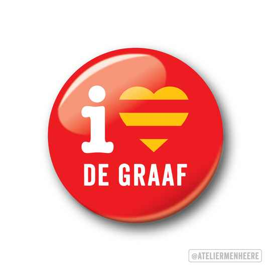 i love De Graaf Button