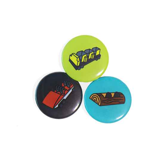 Roller Coaster Buttons 3-Pack