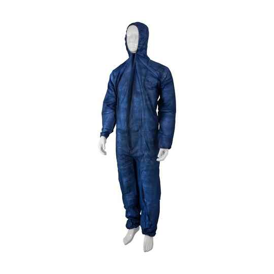 PDB Overall met kap non woven BLAUW (vpe 50 st)