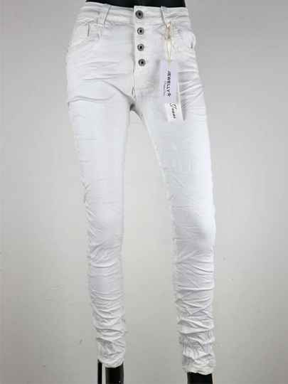 Jewelly Baggy Jeans - Wit
