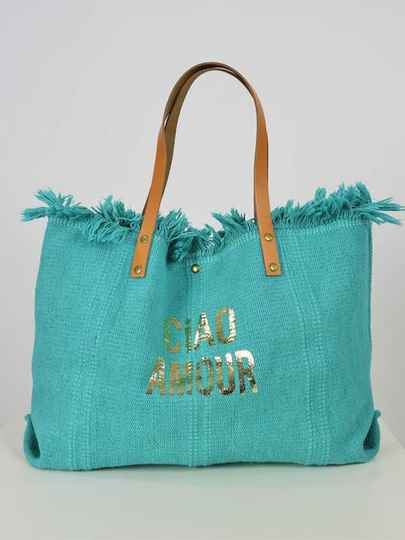 Strandtas Ciao Amour - turquoise
