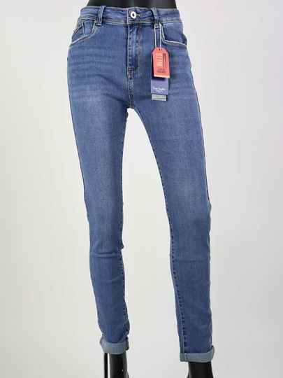 Norfy Slim Fit Push Up Jeans - Blauw