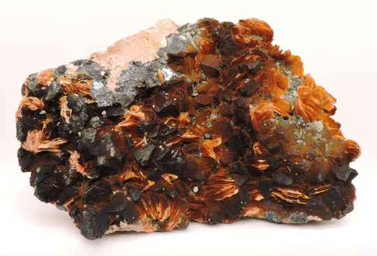Baryte / barite, galena, cerussite and hematite from Morocco - large cabinet size
