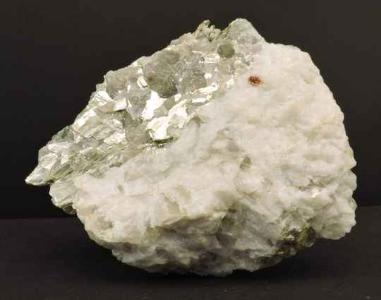 Muscovite on matrix from Norway - cabinet size