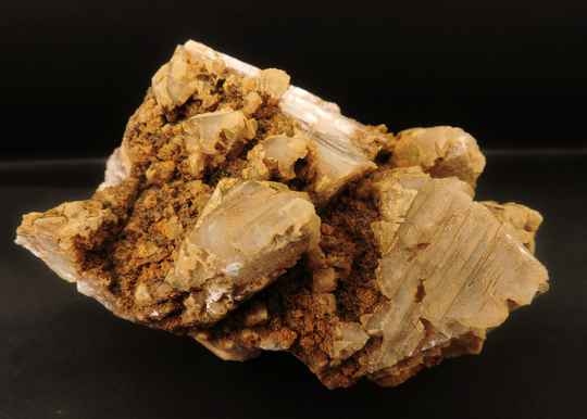 Calcite crystal cluster in different forms from Germany - cabinet size