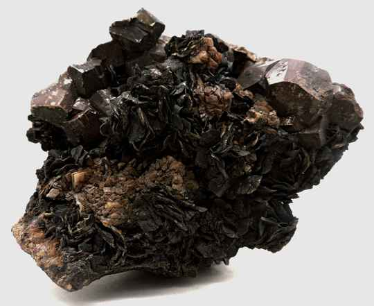 Siderite and pyrite from Italy - cabinet size