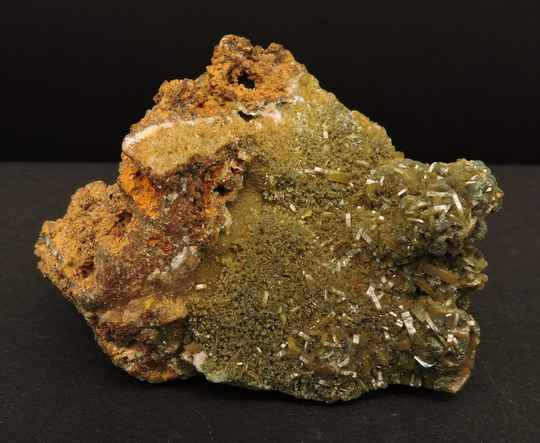 Wulfenite green from Mexico - miniature