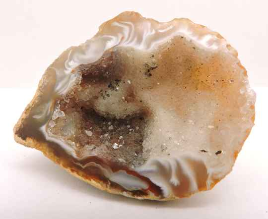 Geode with quartz and agate from Germany - miniature