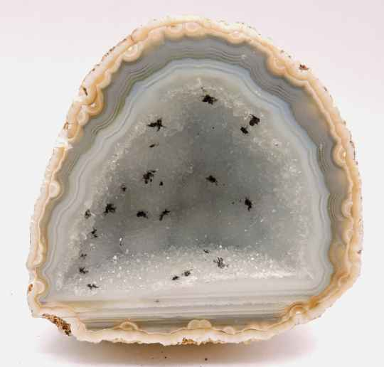 Geode with quartz, agate and goethite from Brazil - miniature