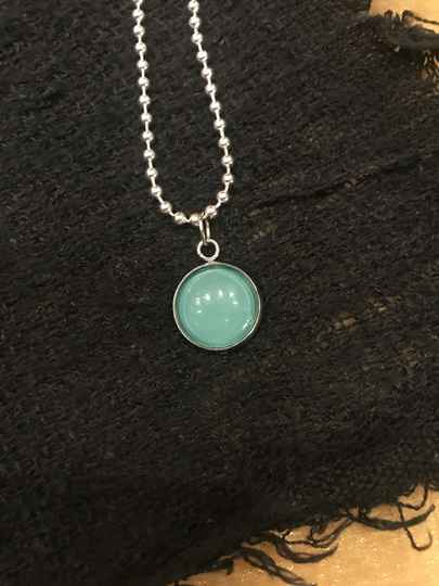 Ketting zilver turquoise