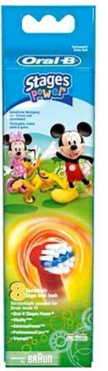 Oral-B Stages Power Kids Micky Mouse - 8 Opzetborstels