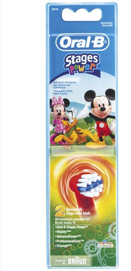 Oral-B Stages Power Kids Micky Mouse - 2 Opzetborstels