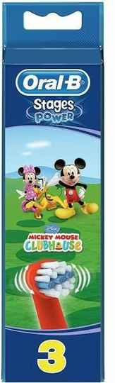 Oral-B Stages Power Mickey Mouse - 3 Opzetborstels