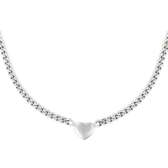 Ketting Chained Heart - Zilver