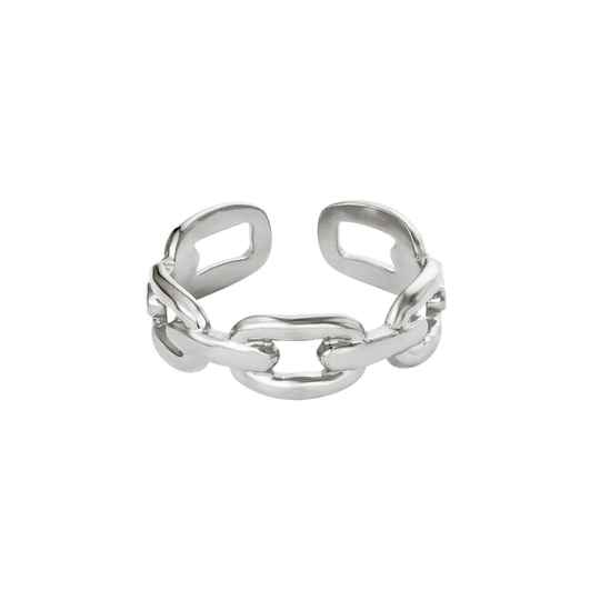 Ring Oval Chain Zilver