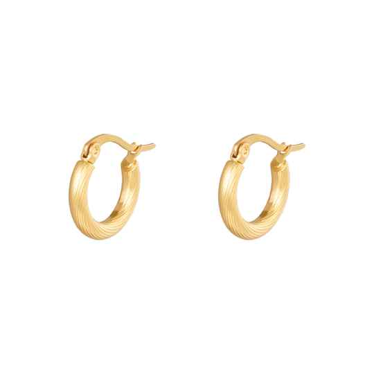 Oorbellen Hoops Twisted 15 mm Goud