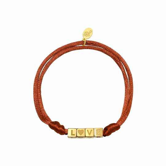 Armband Satin Love Camel