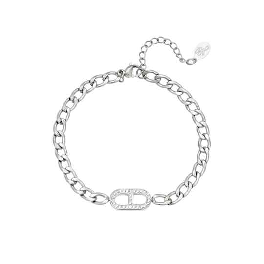 Inspired Diamond Chain Bracelet - silver