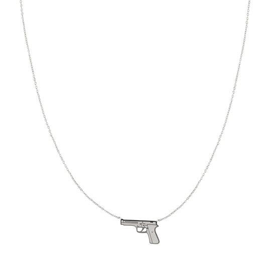 Bang Bang Necklace - silver
